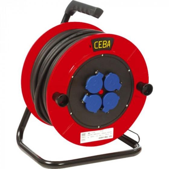 CEBA- Enrouleur de câble TRB Équipé de 4 prises 2P+T - 16 A - 250 V à volet d'obturation- TRB425257