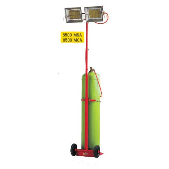 SOVELOR- Chauffage radiant mobile au gaz Gamme SOLOR- 8500 MCA