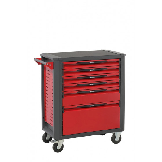 Servante d'atelier rouge 6 tiroirs SORI - 12600