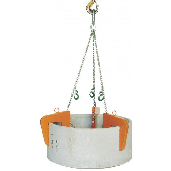 EICHINGER-1062-Pince à regard béton Tri-crochets, plage de serrage fixe semi-automatique