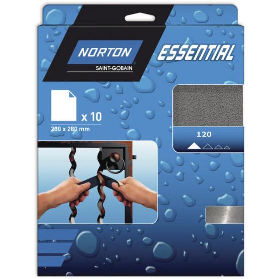10 feuilles de ponçage 230*280 à main papier imperméable carbure de silicium Grain 120 - 77696089381