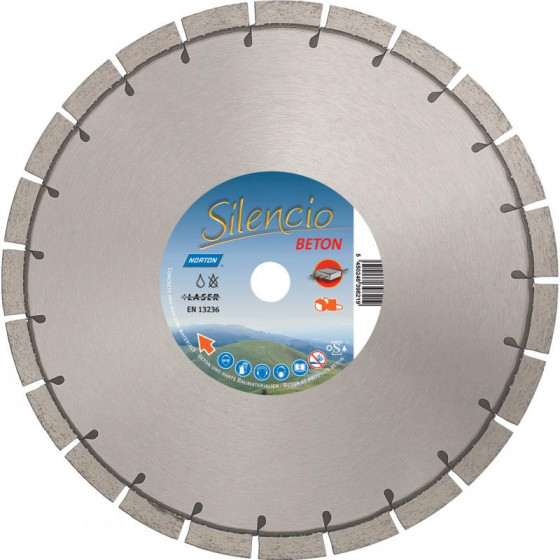 Disque diamant NORTON Silencio Ø 300mm Alésage 20 mm- 70184629000