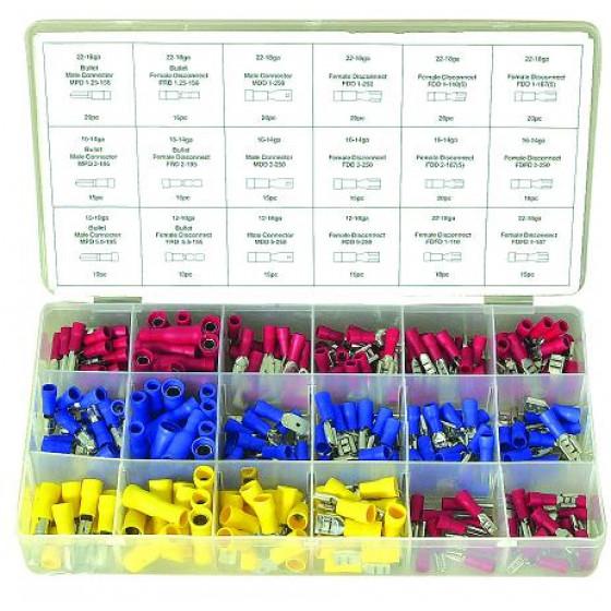 Coffret assortiment 280 cosses electriques simple sertissage - 14096