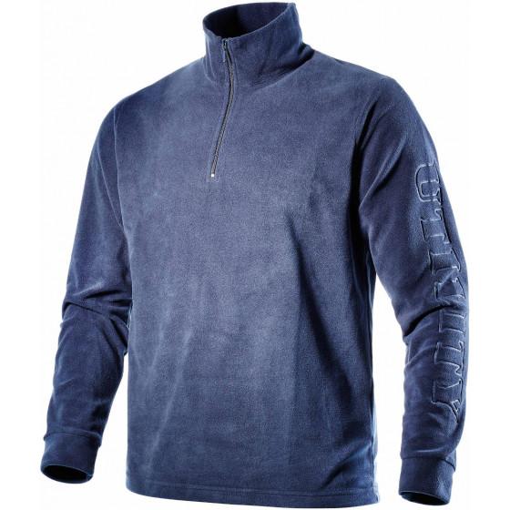 T-shirt zippé en micropyle avec imprimé Utility sur la manche DIADORA GRIPEN  BLEU- 158540600300