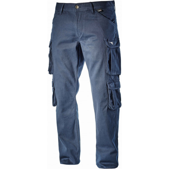 Pantalon de travail DIADORA multipoches élastique Bleu WAYET II - 16029860052
