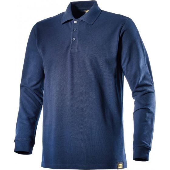 Polo Bleu Métal piqué manches longues en coton ATLAR II diadora - 160300600620