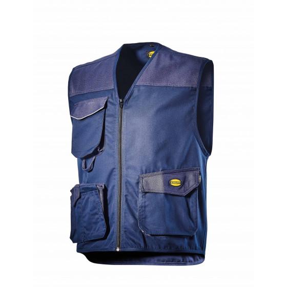 Gilet 3 poches bleu MOVER POLY DIADORA - 160302600620