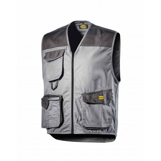 Gilet 3 poches Gris Métal  MOVER POLY DIADORA - 160302750700