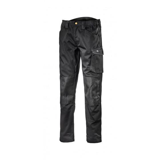 Pantalon de travail d'hiver Noir avec genouillères ROCK WINTER DIADORA - 171658800130