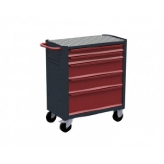 Servante d'atelier rouge 5 tiroirs RUBI- 7500