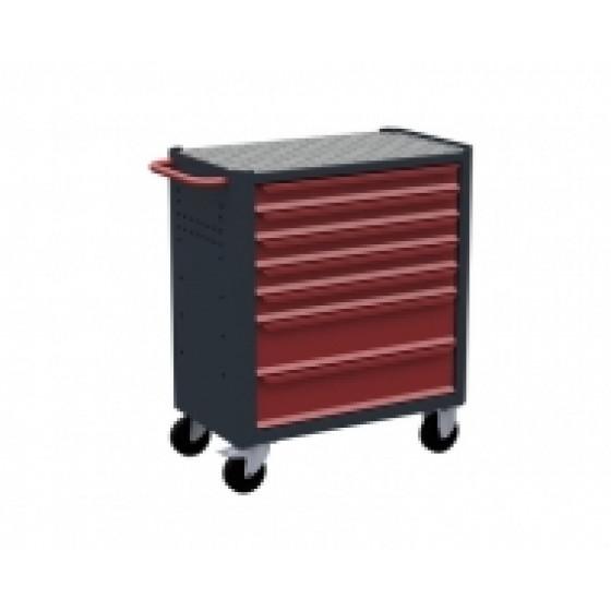 Servante d'atelier rouge 7 tiroirs RUBI- 7700