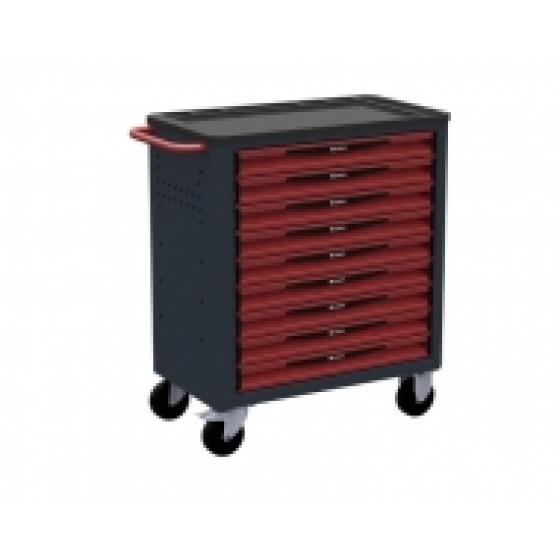 Servante d'atelier rouge 9 tiroirs SORI - 8900