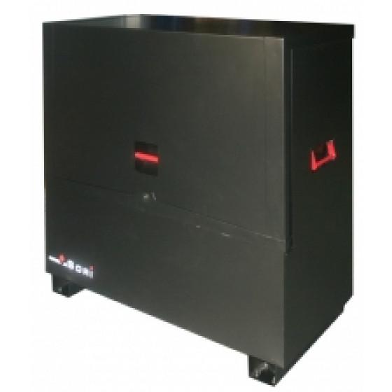 Coffre sécurisé noir avec pieds travaux public Dim.1428x600x1275 SORI- TPS1428