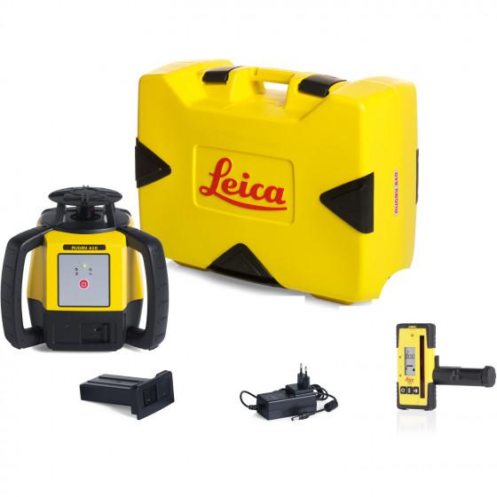 LEICA-LASER Rugby 610 avec coffret avec batterie Li-ion et cellule de réception Rod Eye 120- 6011149