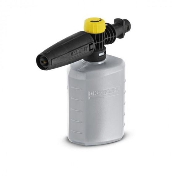 Le canon à mousse permet de projeter de la mousse avec puissance pour nettoyer sans efforts les surfaces telles que les véhicules, motos, vitres, pierre, etc. Le détergent est placé directement dans le réservoir intégré (600 ml) du canon à mousse, lui-mêm