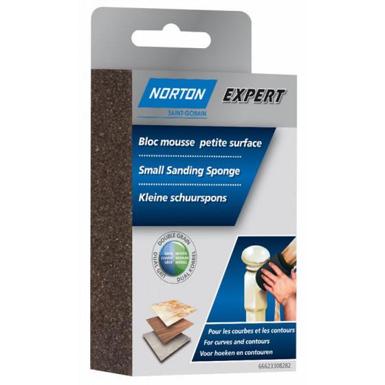 1 bloc mousse petites surfaces NORTON 100*66*26 Grain moyen / gros - 66633308282