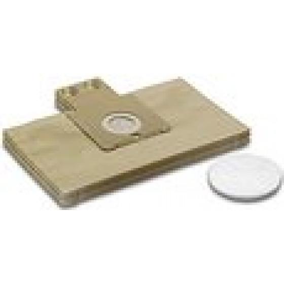 Sachet filtre papier pour aspirateur robot automatique RC KARCHER ( paquet de 5 ) - 6.904-257.0