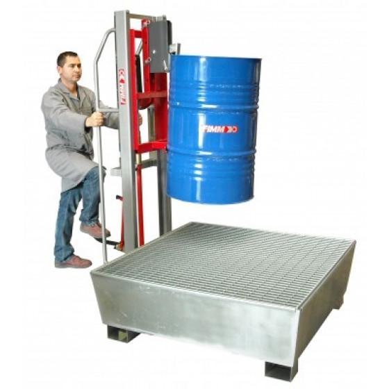 FIMM- ÉLÉVATEUR À FÛTS 300 KG pour fûts métalliques et plastiques à rebord- 840008471