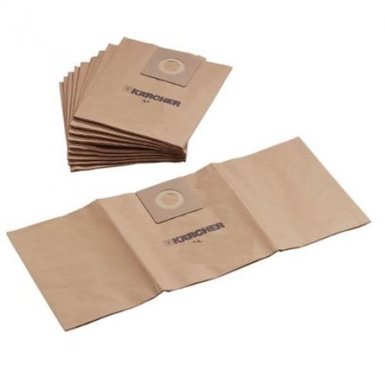 Sachet filtre papier pour aspirateurs eau et poussières KARCHER A1000 ( Paquet de 5 piéces) - 6.904-239.0