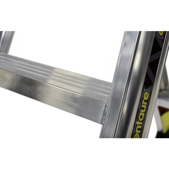 Marchepieds ALPHA aluminium double accès 2x3 marches - 451603