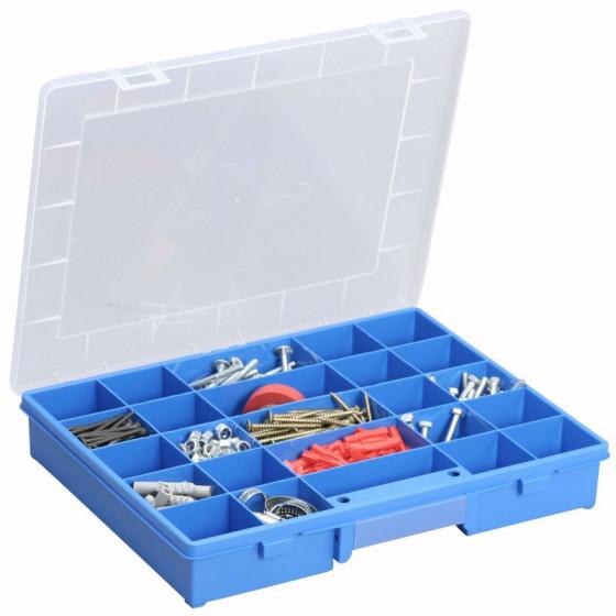 SORI- Coffret en polypropylène Bleu 25 cases- 457250