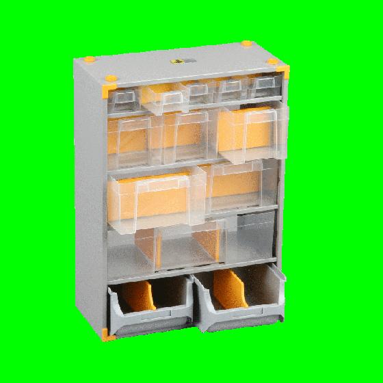 Casiers variopro métal 13 tiroirs plastique. 300x165x420 SORI - 465600