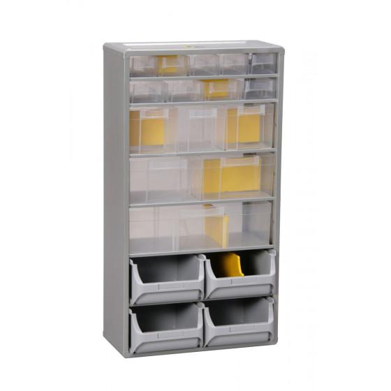 Casier SORI équipé de 19 grands tiroirs + 21 séparateurs 300x165x560- 465610