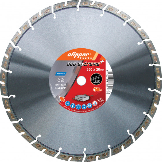 Disque diamant NORTON Duo Extreme+ Ø 350mm Alésage 20 mm- 70184647789