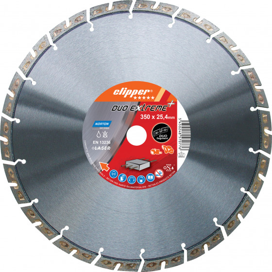 Disque diamant NORTON Duo Extreme+ Ø 350mm Alésage 25.4 mm- 70184647790