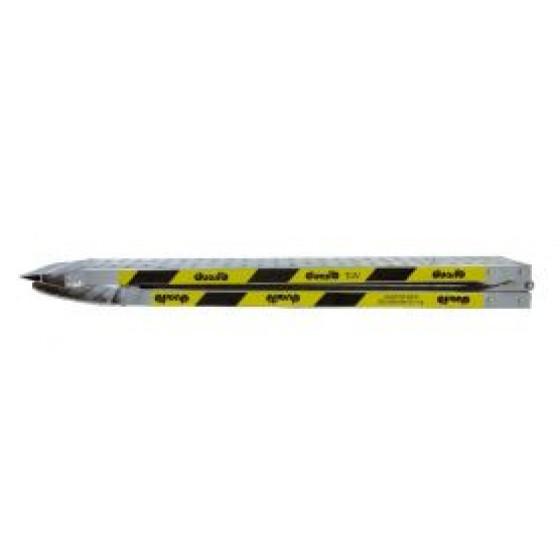 Duarib- RAMPES ALUMINIUM PLIANTE LONGUEUR 2,00 M LARGEUR 0,20 M SANS REBORDS (vendu à l'unité)- 67660