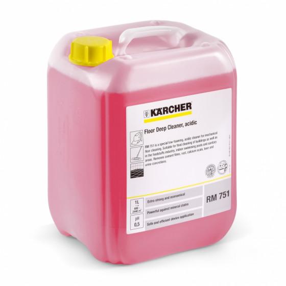 Nettoyant en profondeur pour sol, acide RM 751 KARCHER 10l - 6.295-129.0