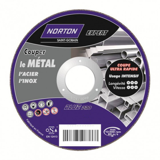 Disque de tronconnage Norton Expert Ø 115 pour meuleuse d'angle- 66252833046