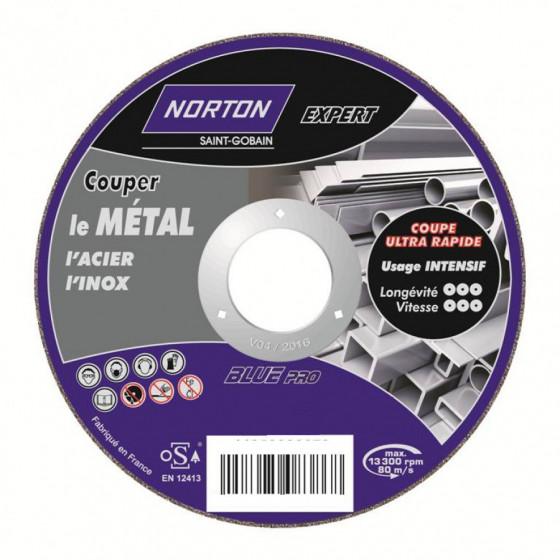 Disque de tronconnage Norton Expert Ø 125 Epaisseur 1.6 pour meuleuse d'angle- 66252833045