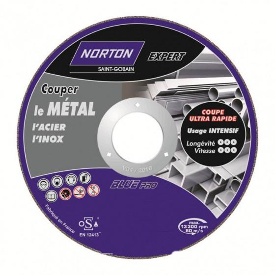 Disque de tronconnage Norton Expert Ø 115 Epaisseur 2.5 pour meuleuse d'angle-66252833048