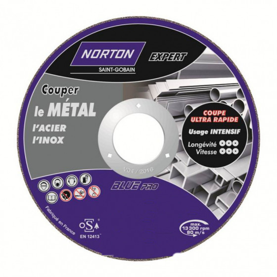 Disque de tronconnage Norton Expert Ø 230 Epaisseur 3.2 pour meuleuse d'angle-66252828490