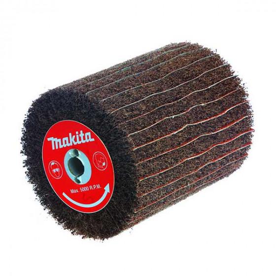 Brosse texture abrasive (FIBRES) et lamelles papier abrasif  papier 120/  Grain 180 MAKITA- P-19249