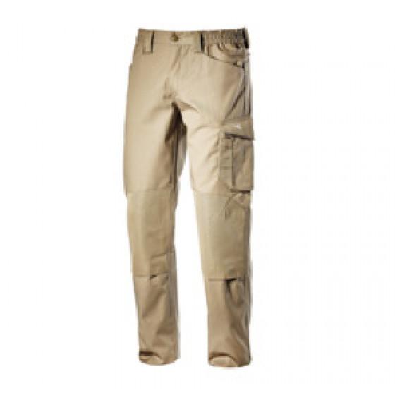 Pantalon de travail Beige avec genouillères ROCK POLY DIADORA - 160303250700