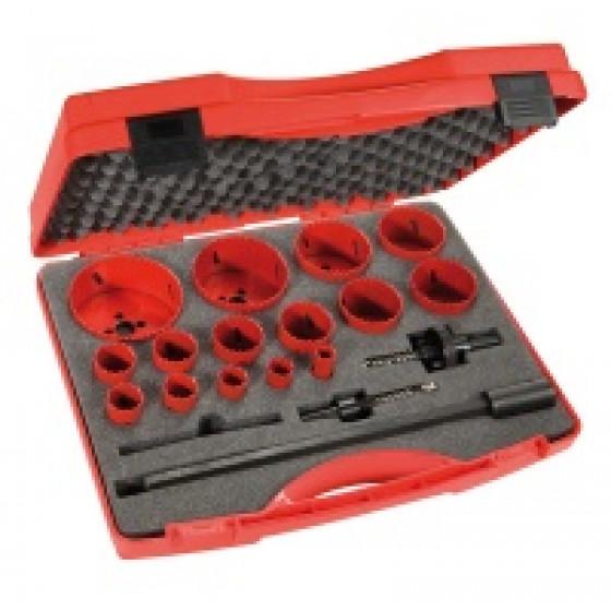 SAM OUTILLAGE-Coffret scies trépans 15 diamètres et accessoires -705-C-15