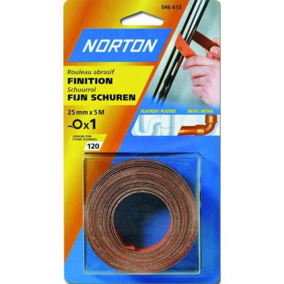 Rouleaux toile souple en 50 m NORTON pour poncage Grain 120-63642546430