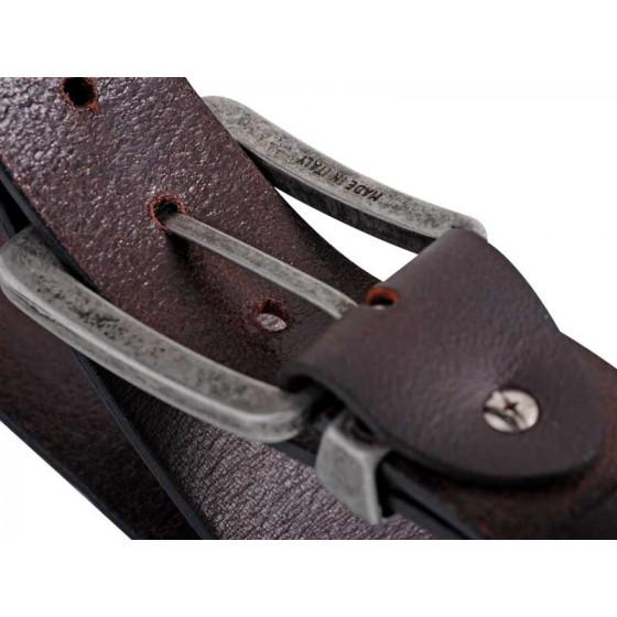 MAKITA-Ceinture en cuir marron L-P72235