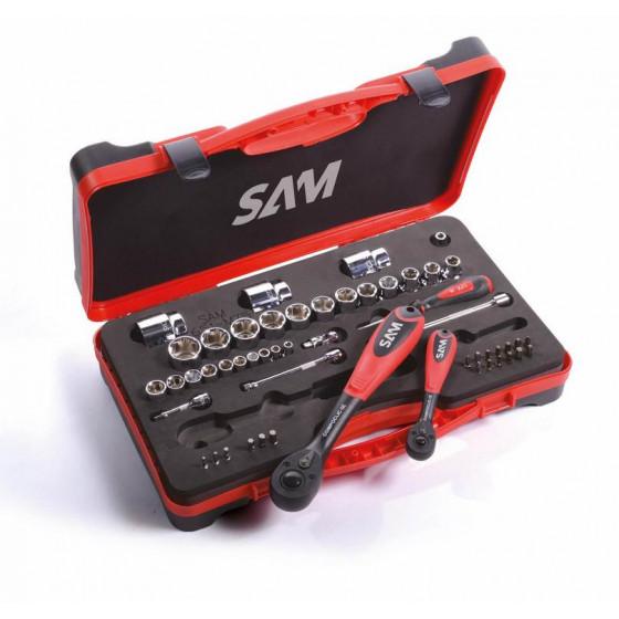 SAM Outillage R-14 Douille courte 1//4 6 Pans de 14 mm