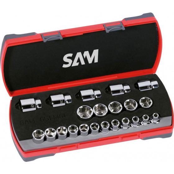 SAM Outillage SH-12 Douille courte 1//2 6 Pans de 12 mm