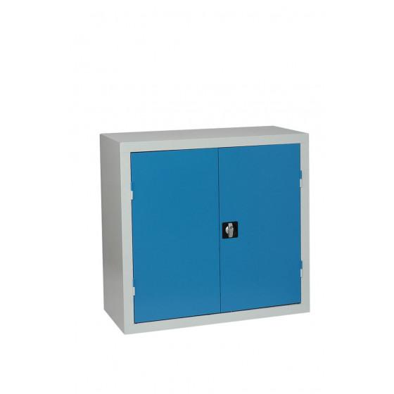 Armoire basse 2 portes 1000x1000x450 multi usages d' atelier ARMAPRO + 2 tablettes SORI -754412