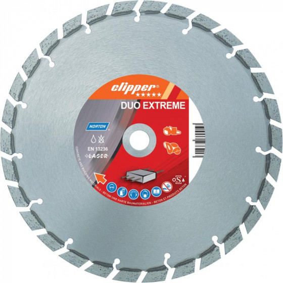 Disque diamant NORTON Duo Extreme+ Ø 300mm Alésage 25.4 mm- 70184647788