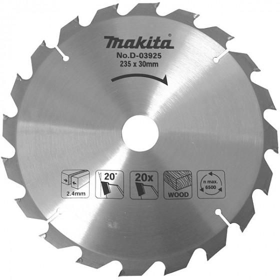 Lame carbure Ø 165 mm standard bois, pour scies circulaires MAKITA-D-03349