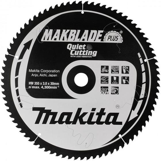 Lame carbure Ø 355 mm ''Makblade Plus'' Bois pour scies radiales et à onglets MAKITA-B-08741