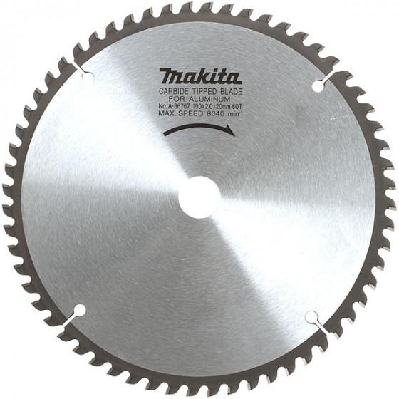 Lame carbure aluminium Ø 355 mm pour scie radiale et à onglet MAKITA-B-12522