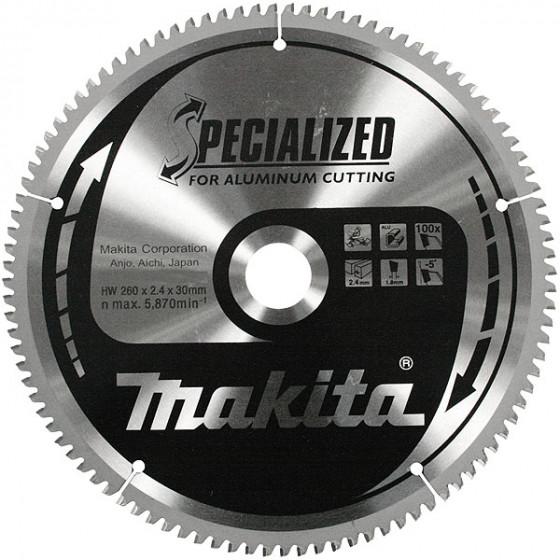 Lame carbure Ø 260 mm ''Specialized'' pour aluminium, pour scies radiale et à onglets MAKITA-B-09656