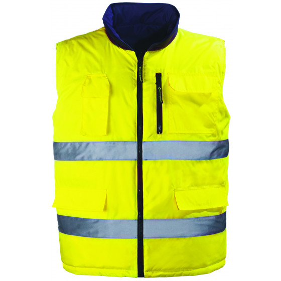 EUROPROTECTION-Gilet réversible Jaune fluo HIWAY-7HWGY