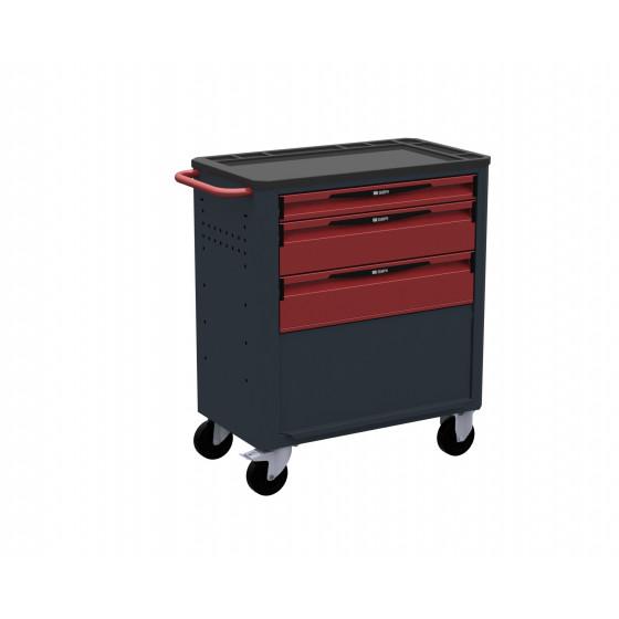 Servante d'atelier 3 tiroirs - 1 soute + porte SORI - 8310